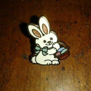 3/$13!! Easter Bunny pin marked Hmk.